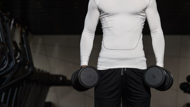 Static barbell hold- hand grip exercise